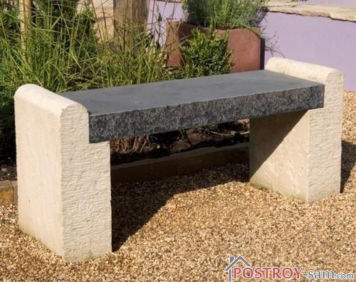 Скамейка из камня фото
