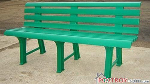 Скамейка садовая пластиковая