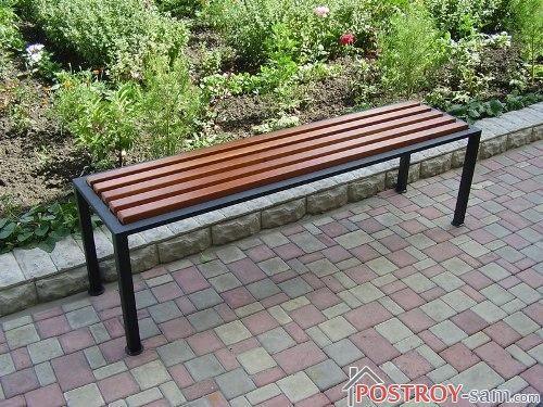 Садовые скамейки своими руками из металла фото