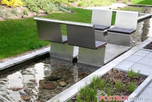 Современные садовые скамейки