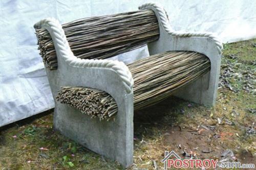 Сочетание бетона и дерева