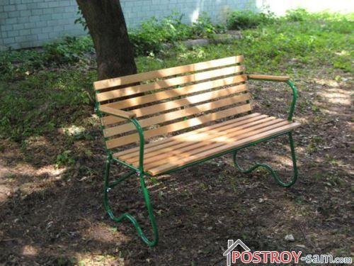 Переносная скамейка для сада