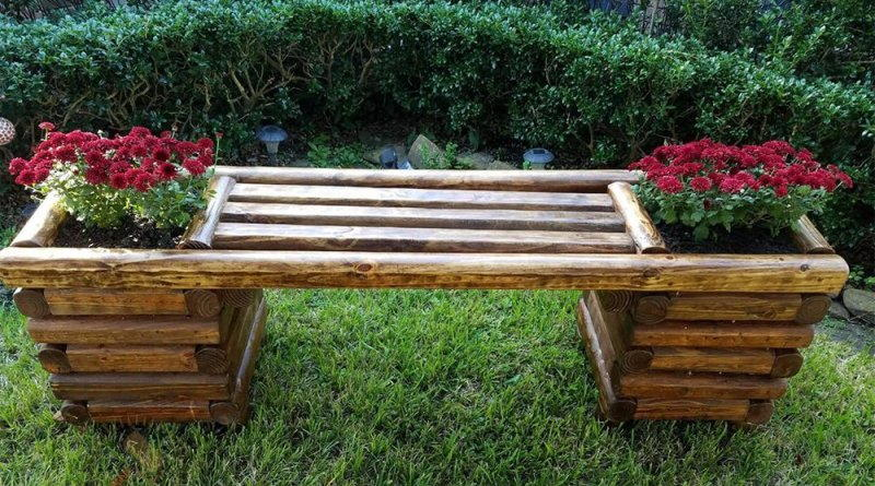Красивые и функциональные садовые скамейки из разных материалов. Фото