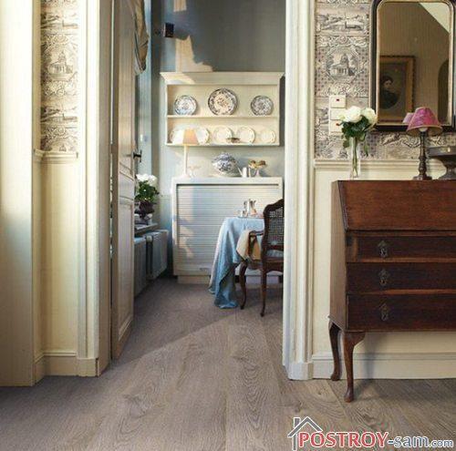 Выбор цвета стен под серый ламинат