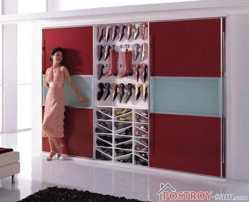 Шкаф-купе для обуви фото