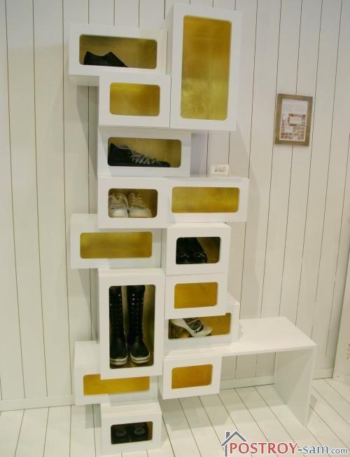 Оригинальный шкафчик для обуви