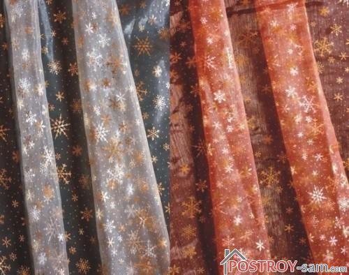 Новогодние шторы из органзы
