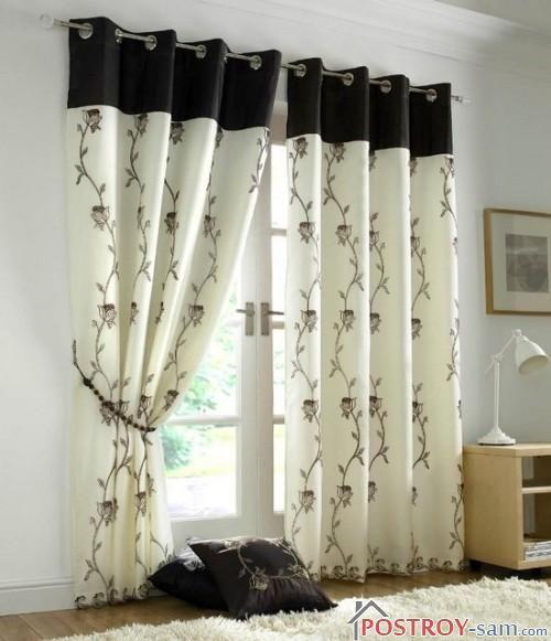 Красивые шторы для гостиной из органзы