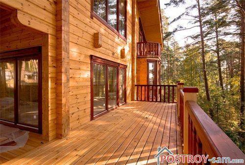 Деревянные дома с террасой фото