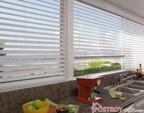 Вертикальные пластиковые жалюзи на кухню
