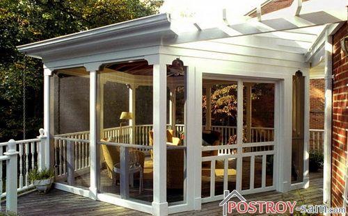 Дачный дом с верандой фото