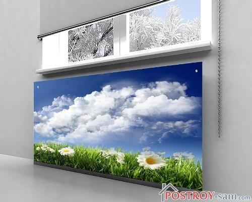 Стеклянные экраны для батарей с рисунком
