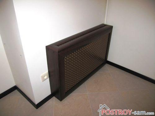 Деревянная решетка на радиатор отопления из МДФ-панелей
