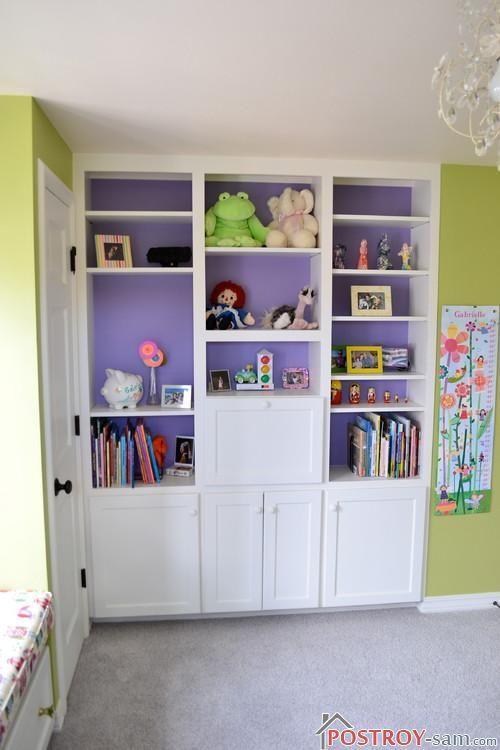 Шкаф в детской девочки