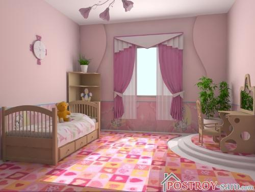 Дизайн детской комнаты для девочки. Фото