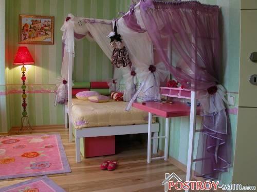 Уютный интерьер детской девочки