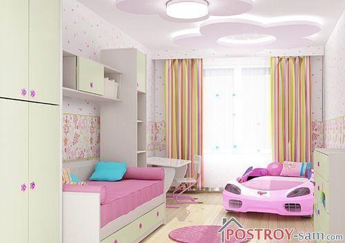Автомобиль в комнате для девочки