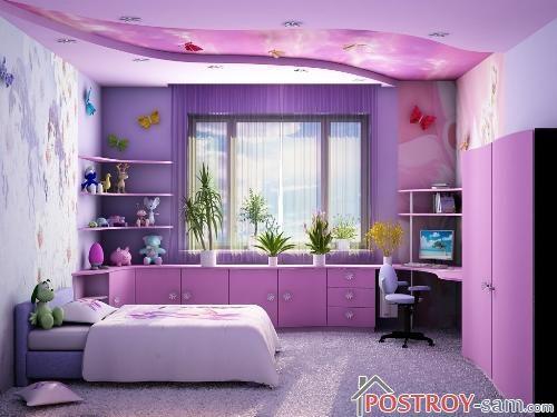 Меблирование детской комнаты девочки