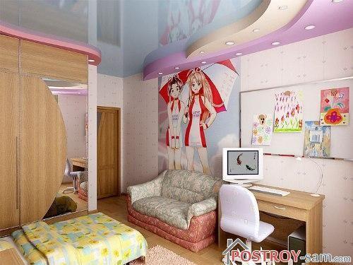 Дизайн детской комнаты для девочки 7 - 10 лет фото