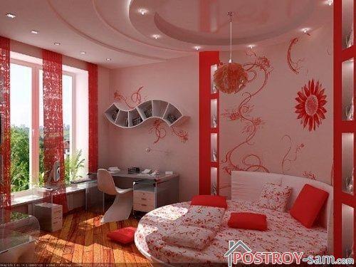 Дизайн детской комнаты для девочки-подростка 11-16 лет