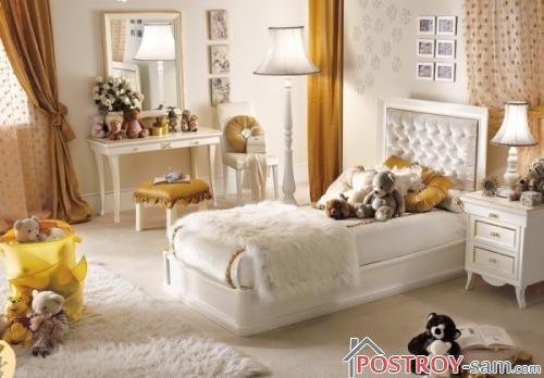 Дизайн детской комнаты для девочки-подростка 11-16 лет с игрушками