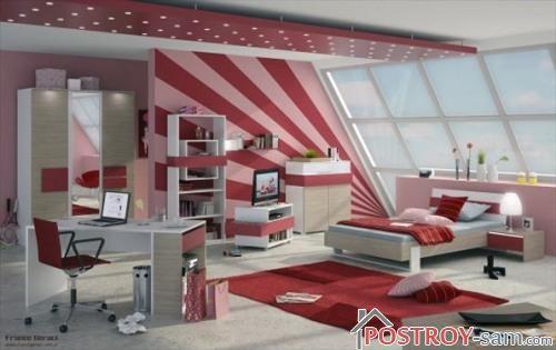 Дизайн детской комнаты для девочки-подростка фото