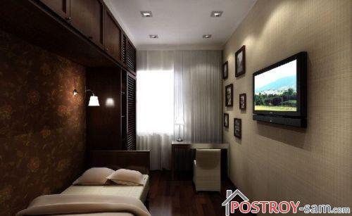 Мебель для узкой спальни