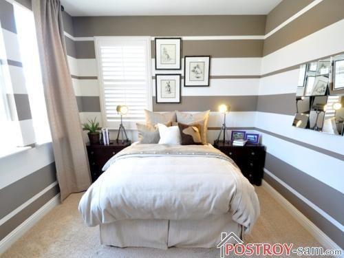 Выбор отделки для узкой спальни
