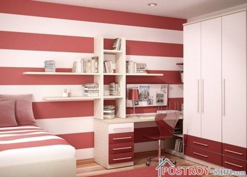 Полосатая спальня