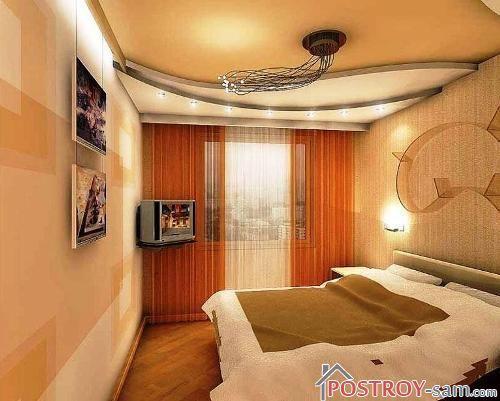 Фото дизайна узких спален