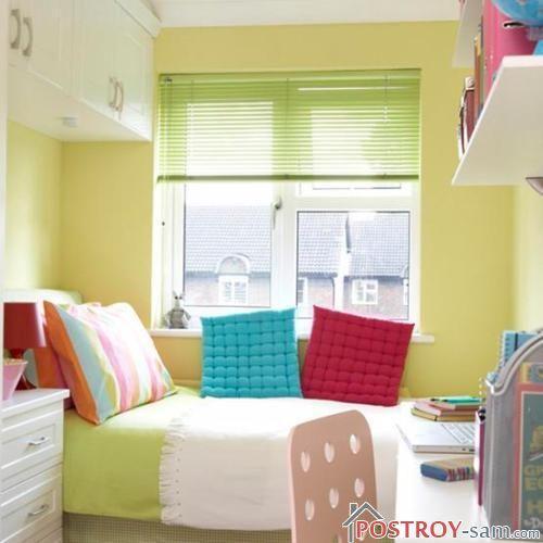 Детская узкая спальня