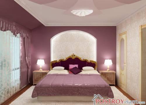 Оформление узкой спальни