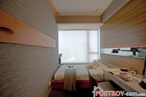 Дизайн очень узкой спальни