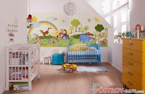 Фотообои в комнату маленького ребенка