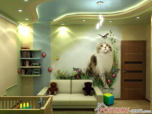 Кот на фотообоях
