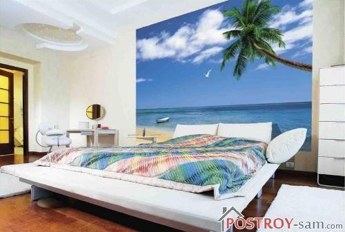 Фотообои с пальмой и морем
