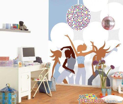 Фотообои с танцующей молодежью