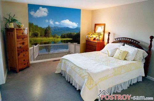 Фотообои в интерьере спальни. Как оформить стены фотообоями?