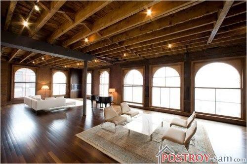 Лофт деревянной дачи