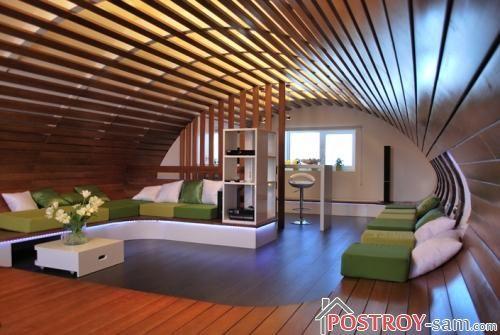 Интерьер современной деревянной дачи