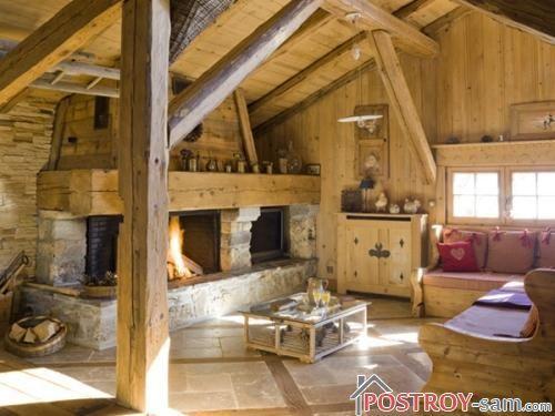 Стиль кантри в интерьере деревянной дачи