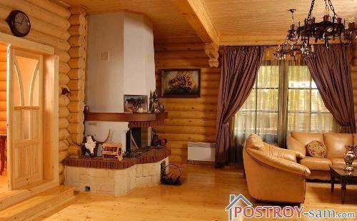 Интерьер деревянной дачи