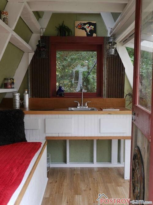 Интерьер маленьких дачных домиков