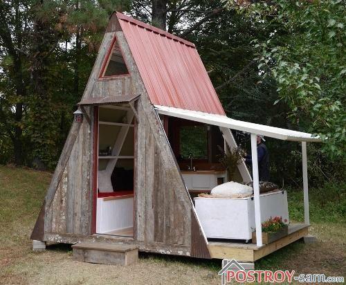Маленький дачный домик. Как построить недорогой домик? Фото