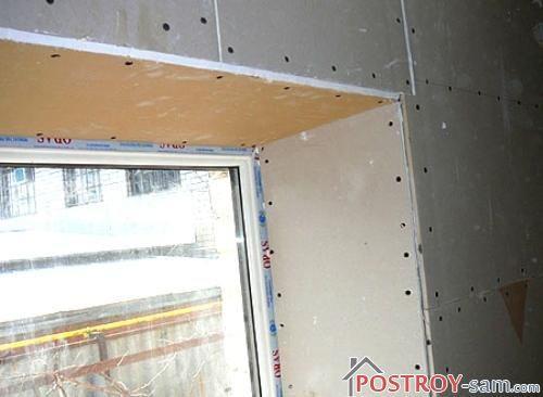 Откосы из гипсокартона на окна своими руками