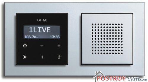Радио для ванной комнаты GIRA