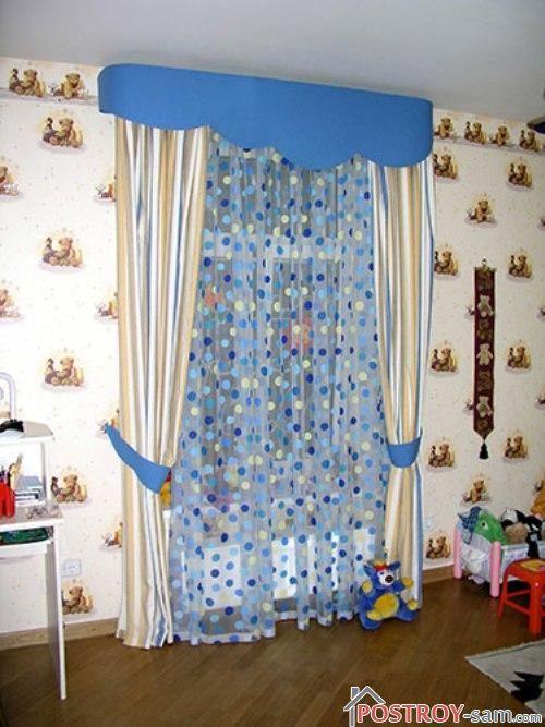 Классические шторы в детскую фото