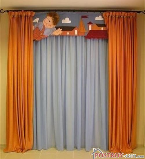 Классические шторы в детскую комнату фото