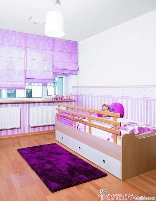 Римские шторы для детской фото