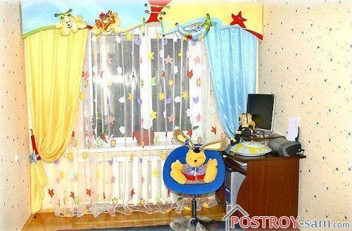 Шторы для детской комнаты - фото